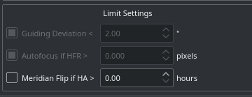 limit settings